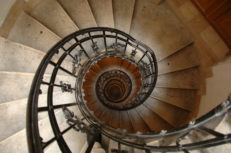 Staircase to dome