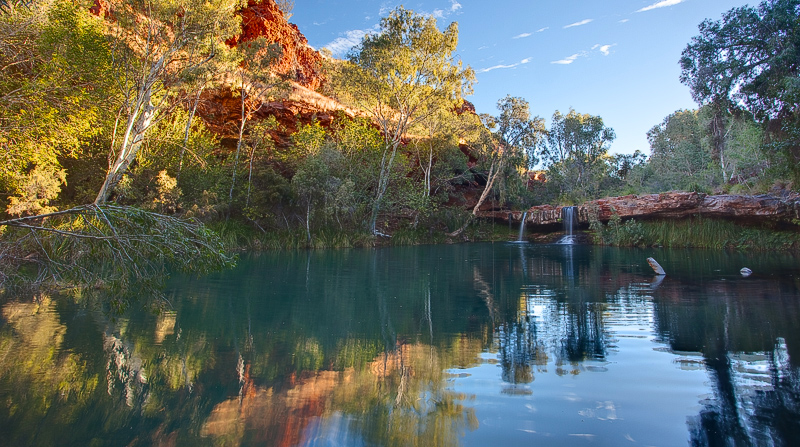 Dales Gorge pool and waterfall