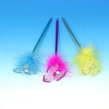 Butterfly Feather Fluffy Ballpoint Pen