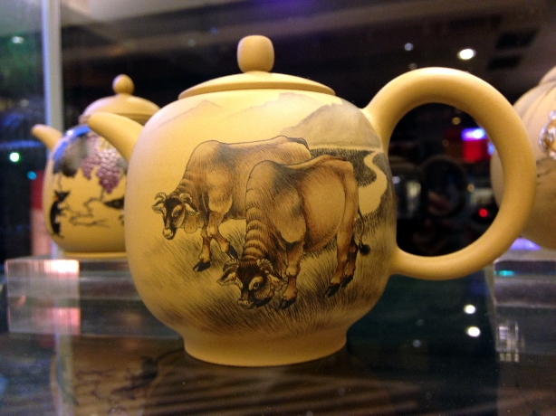 Freehand Ox Teapot