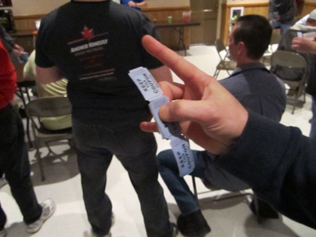 proper way to hold raffle tickets
