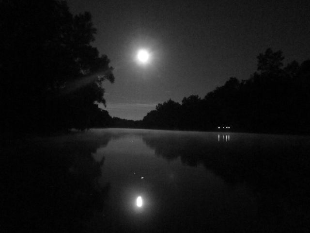 full moon on the canal