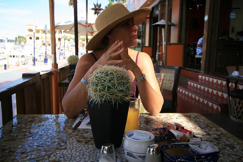 Debbie at breakfast