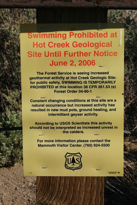 Hot Creek Closed