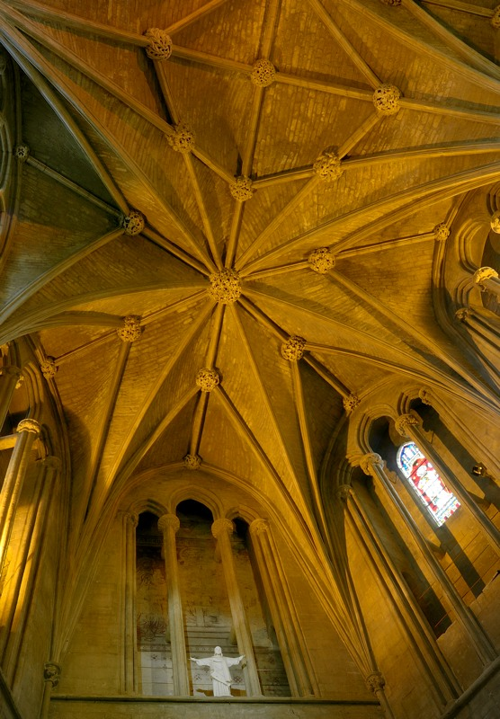 Vaulting at taper of chancel