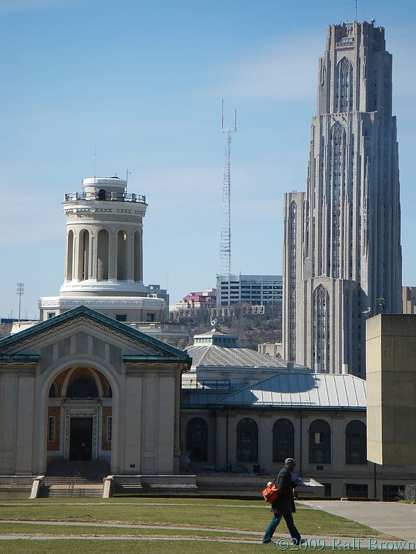 Hamershlag Hall and U.Pittsburghs Cathedral of Learning