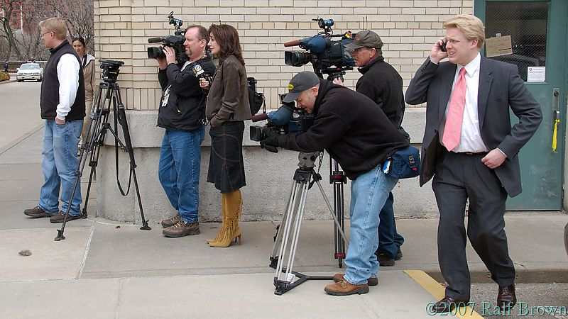 ...and TV crews to film the police cruisers
