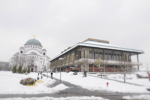 St Sava Temple and National Library