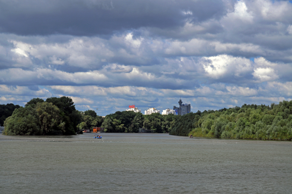 The Sava and the Danube rivers