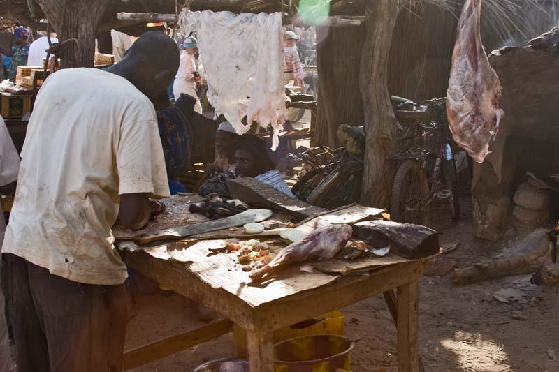 Typical Market Butcher Shop
