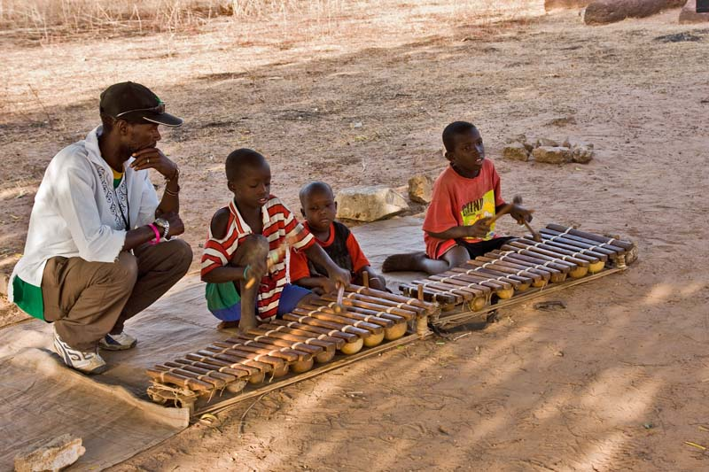 Boys Playing Balafons