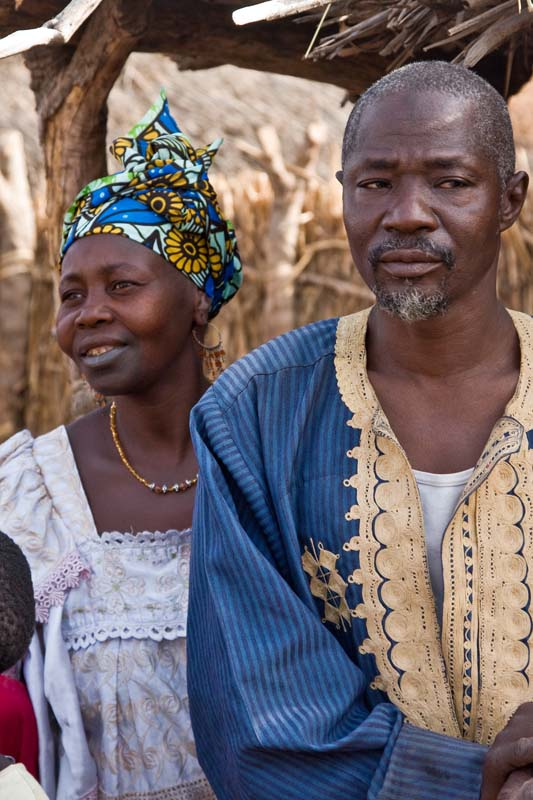 Village Chief with One of His Three Wives