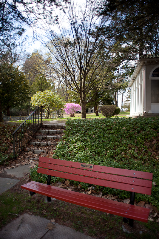 Bench, Stairs and Tea House