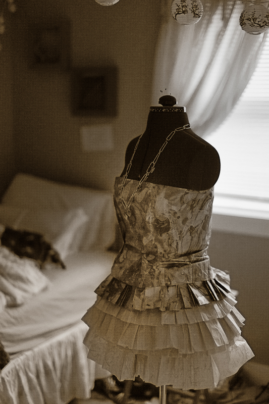 Saras Paper Dress
