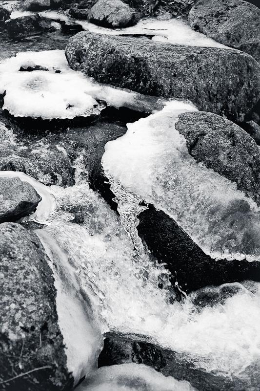 Iced Rocks in Jordan Stream