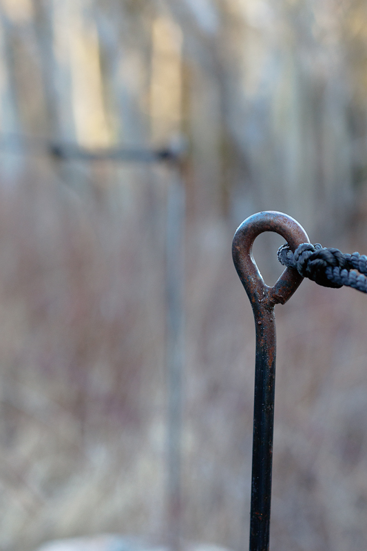 Rope Tied to Iron Post