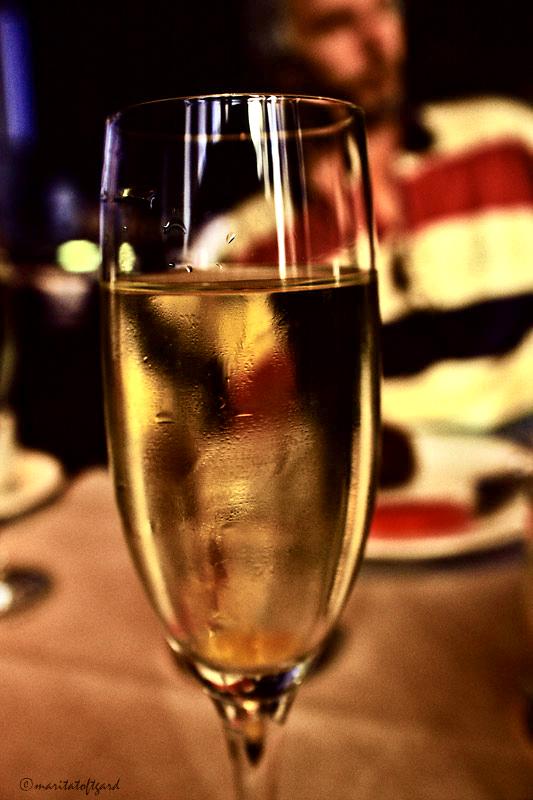 champagne for breakfast in barcelona..