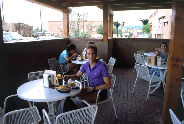 Gary Santa Fe New Mexico 1988 - my first blue corn enchilada