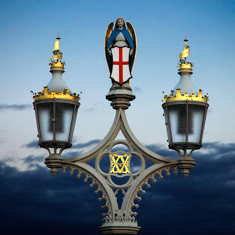 Street lamp on bridge, York