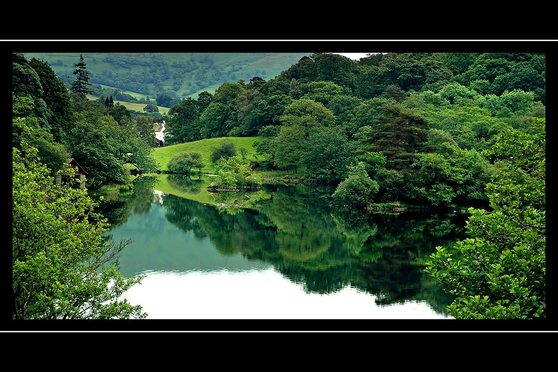 House and pond, near Ambleside