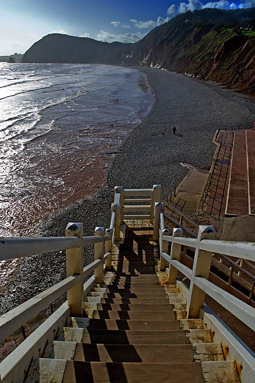 Straight down Jacobs Ladder, Sidmouth