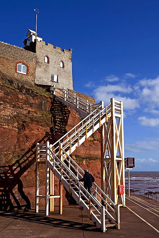 Goin up Jacobs ladder, Sidmouth (2053)