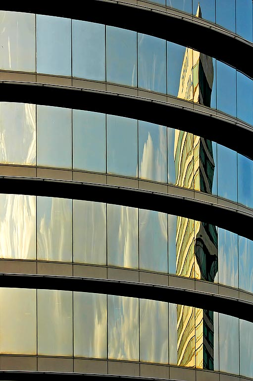 High-rise reflections, Barcelona