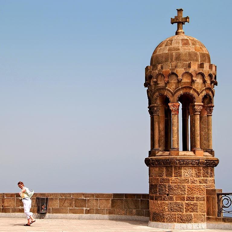 Carole and tower, Tibidabo