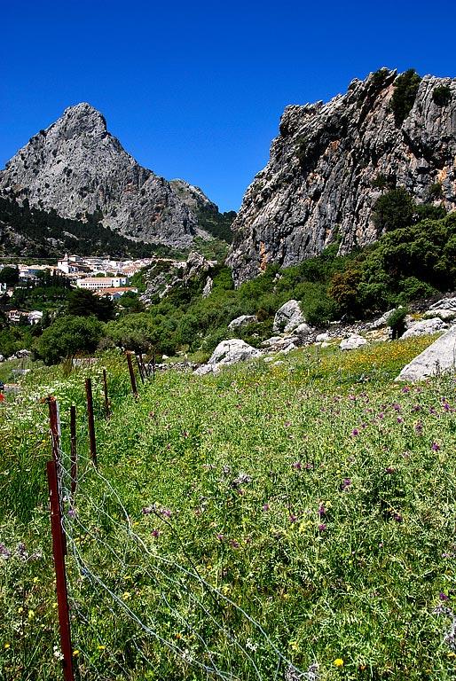 Fence and mountain, Grazalema