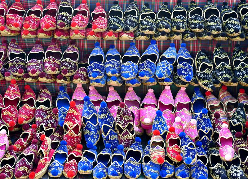 An abundance of slippers