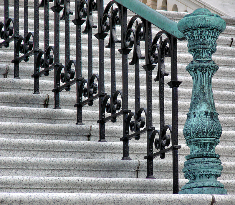 Staircase detail, US Capitol