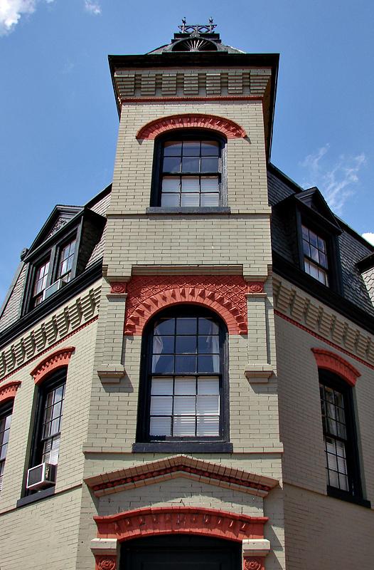 Distinctive corner tower