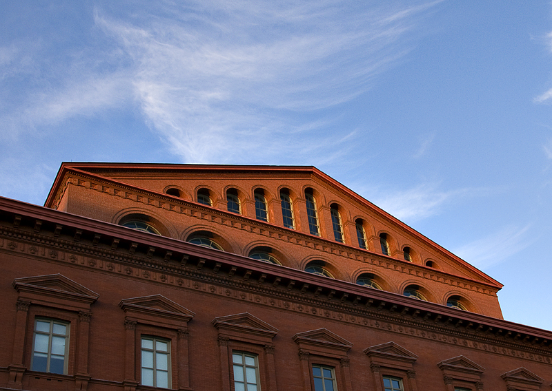 Last rays, National Building Museum