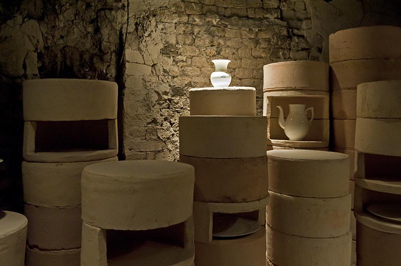 Inside an old kiln