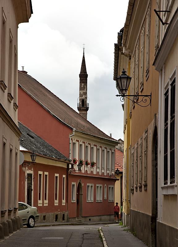 Quiet street and minaret