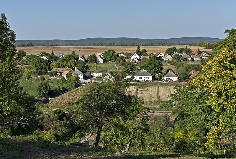 Nagyvázsony from the castle