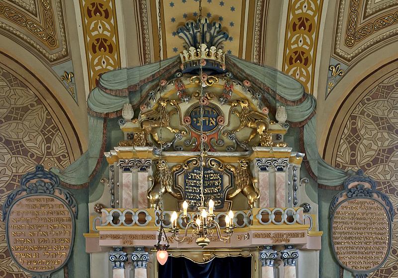 Restored synagogue, detail