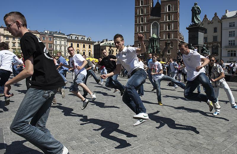 Break dancing on the square