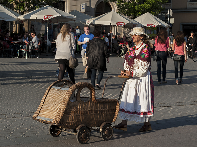 Lady with a baby carriage