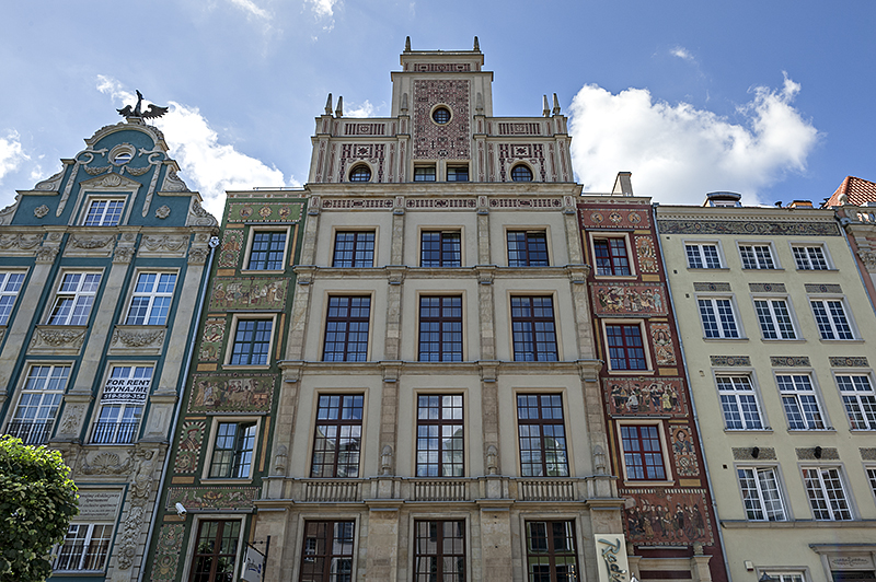 Magnificent buildings of Gdańsk