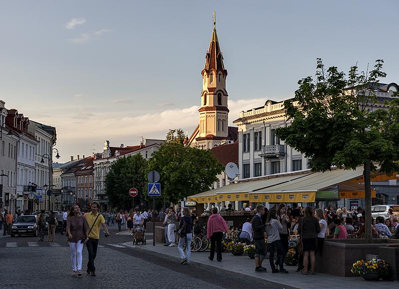 Sunset on Vilnius