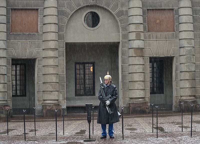 Wet day at the Royal Palace