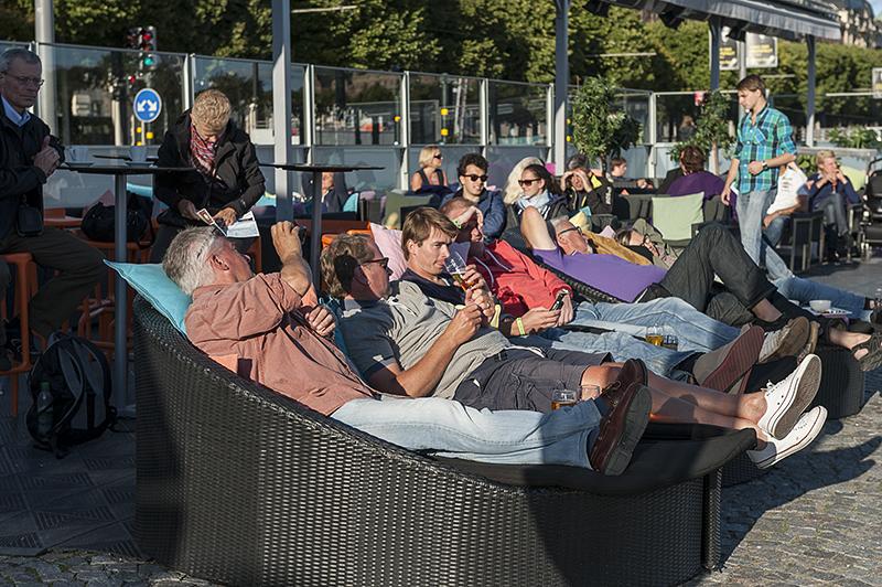 Stockholmers enjoying the weather