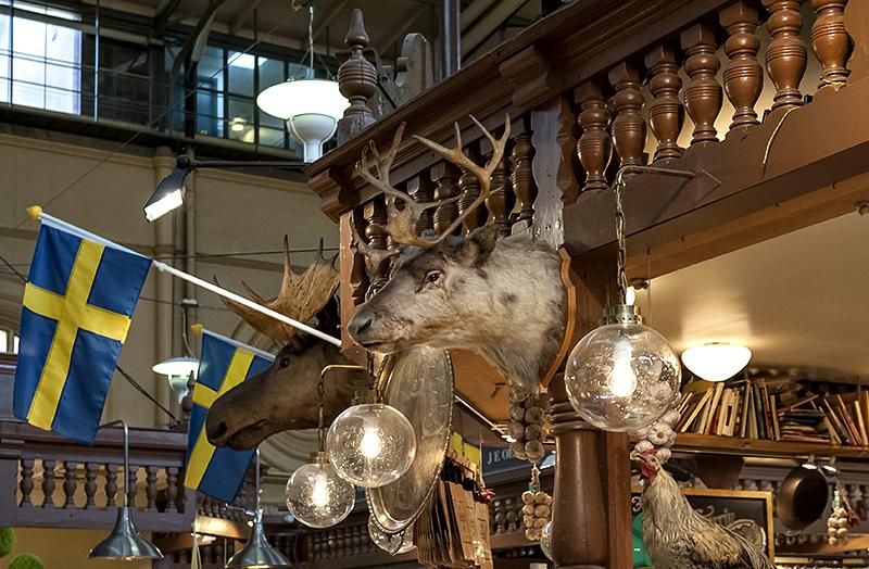 Östermalms Saluhall, reindeer and moose