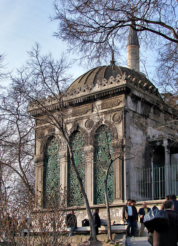 At the tomb of Sultan Bayazid