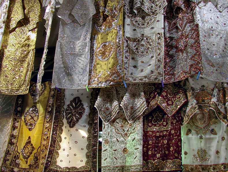Covered Bazaar, fabric dealers street