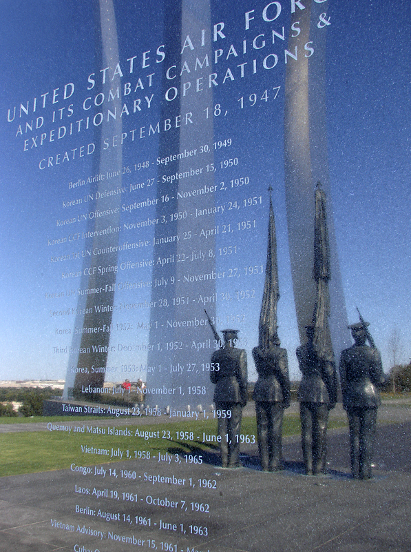 Air Force Memorial, in granite