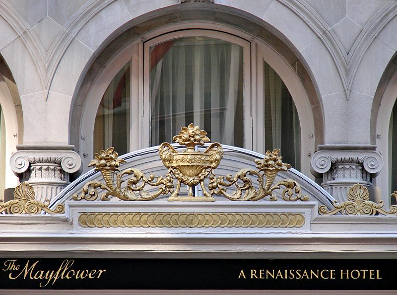 The historic Mayflower Hotel