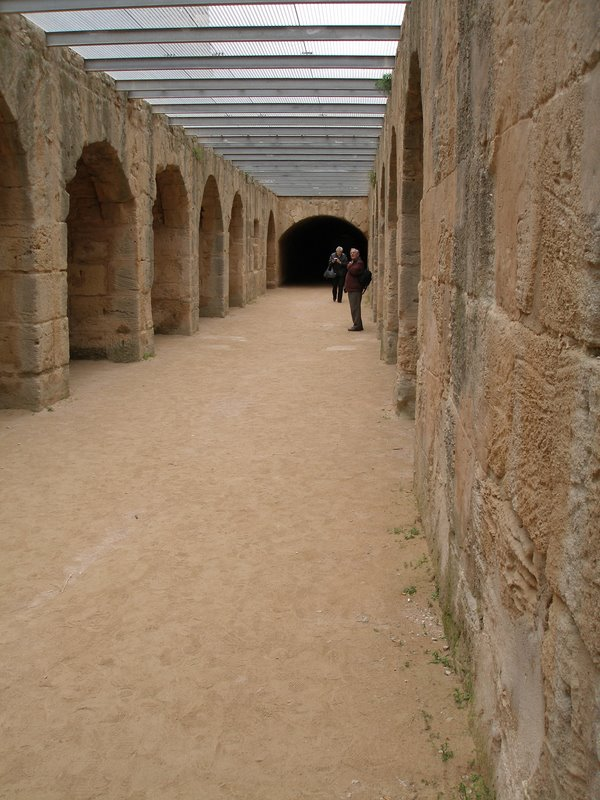 El Djem - Roman amphitheatre - underground cells for prisoners and/or lions