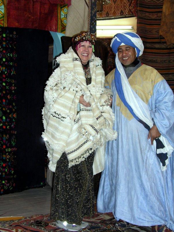 064 Teneghir - Joanne as Berber bride.JPG